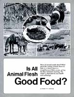 Is all Animal Flesh Good for Food?