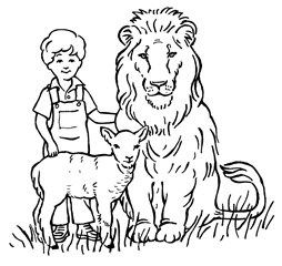 Lion, lamb and a child